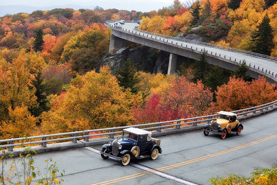 Ford Model A's cruising the Parkway!