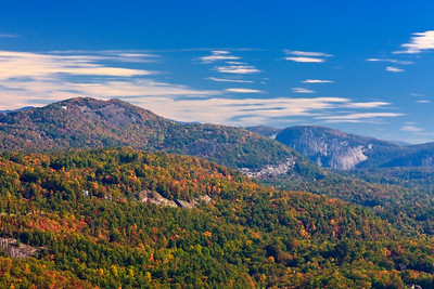 North Carolina mountains in the fall