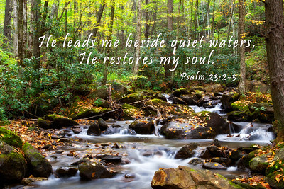 He leads me beside quiet waters