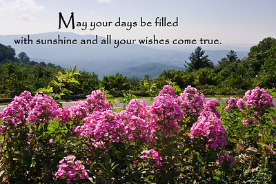 May your days be filled with sunshine and all your wishes come true