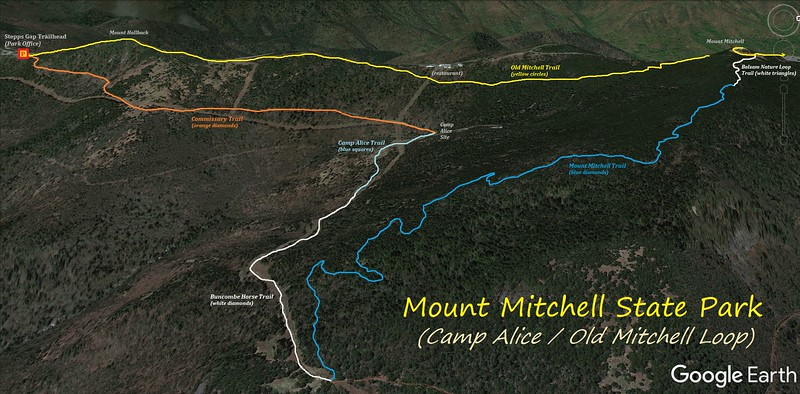 Hiking project is built by hikers like you. Mount Mitchell State Park 6 0 Miles D 8 80 Dwhike