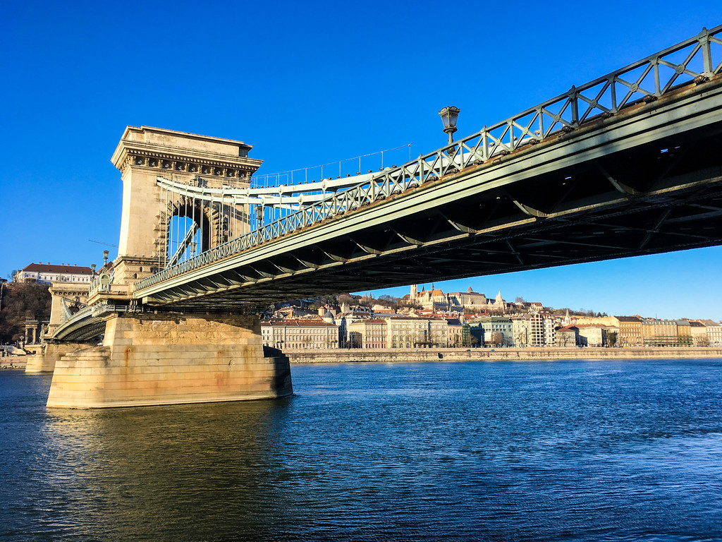 walking across chain bridge is another one of the things to do in budapest in winter