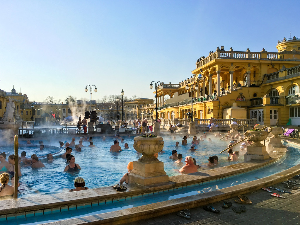 anytime is the best time to visit Budapest if you wanna try the bathes