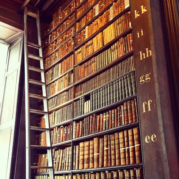 Trinity College Library bookshelf