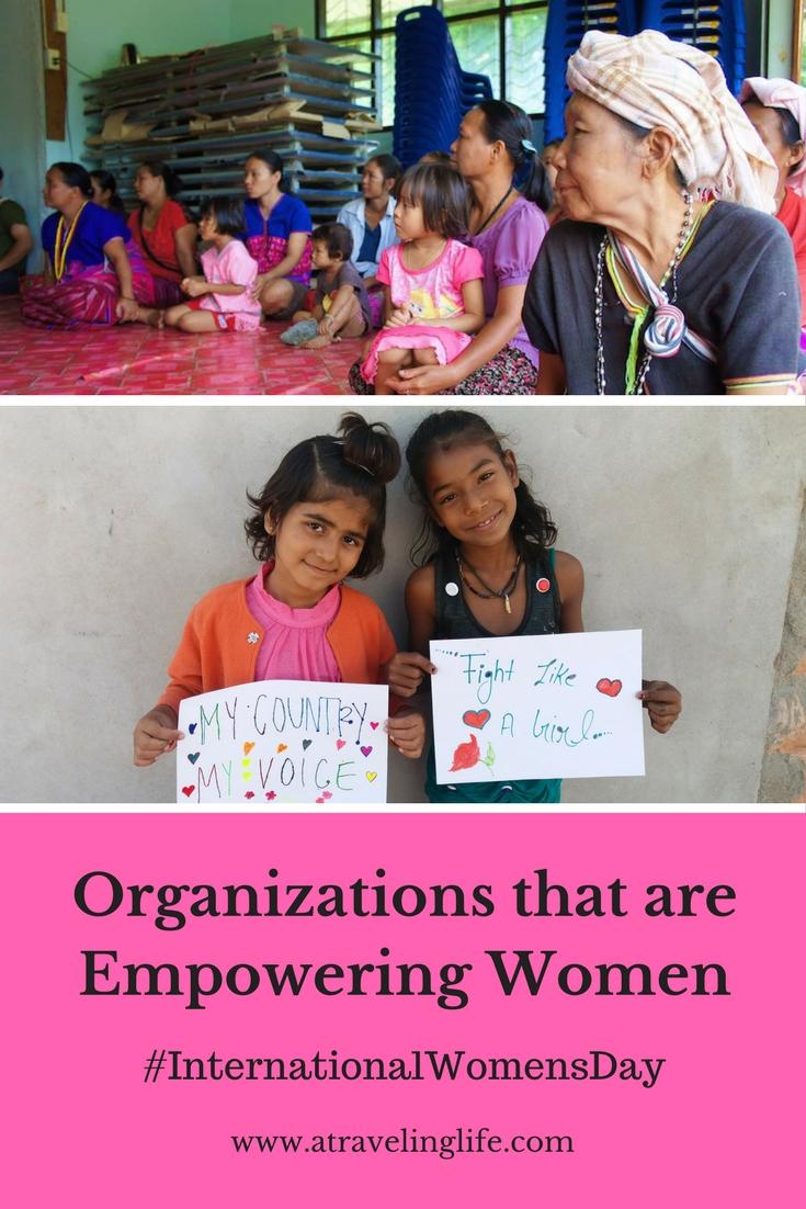 Travel bloggers share their favorite organizations empowering women around the world in honor of International Women's Day.