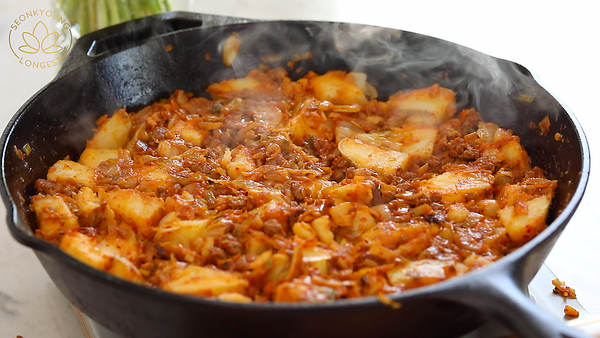 kimchi beef hash