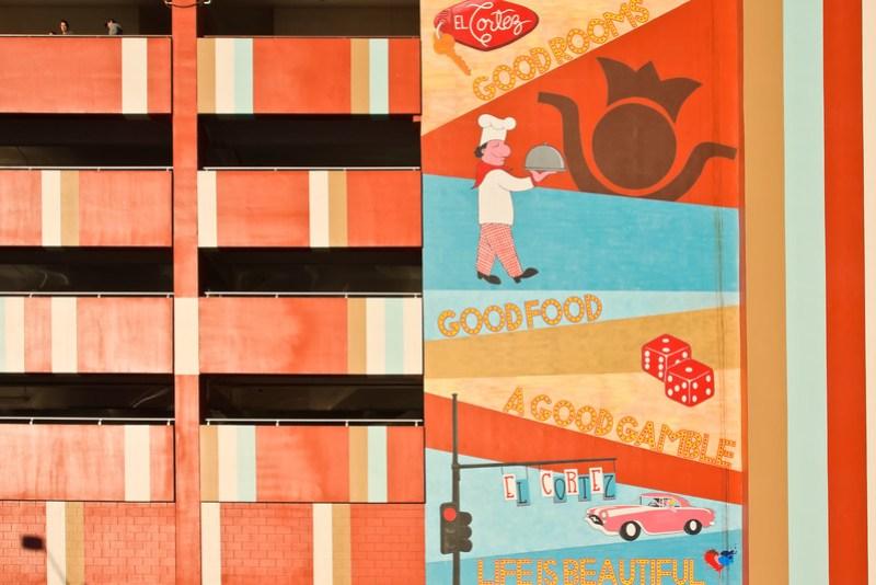 El Cortez vintage mural Downtown Las Vegas