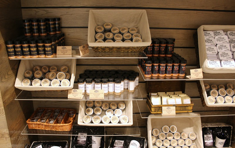 Display of spices and more inside the New Dutch Trading Co. store at the Loews Sapphire Falls Resort