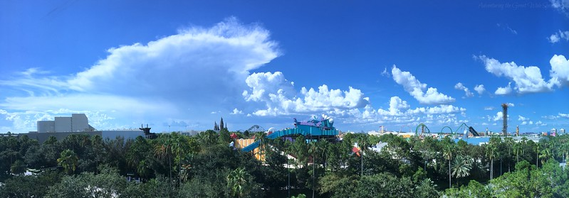 View of Islands of Adventure theme park from our resort guest room