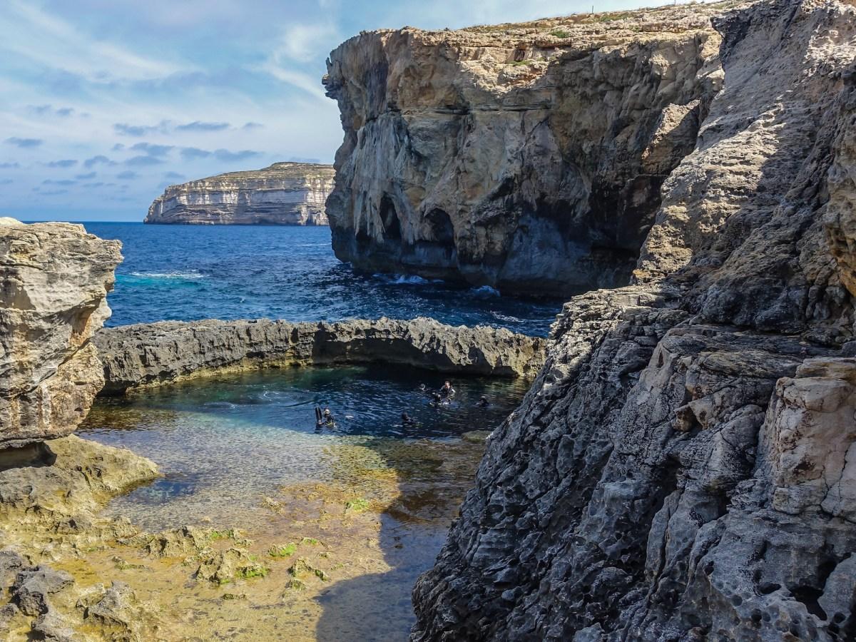 Malta Pictures - The Blue Hole, Gozo, Malta