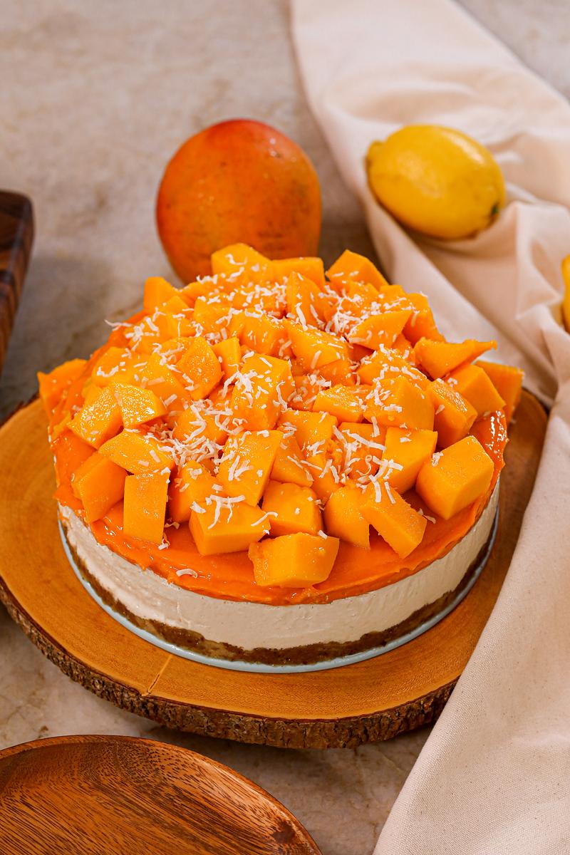 Plant-based Mango Cheesecake