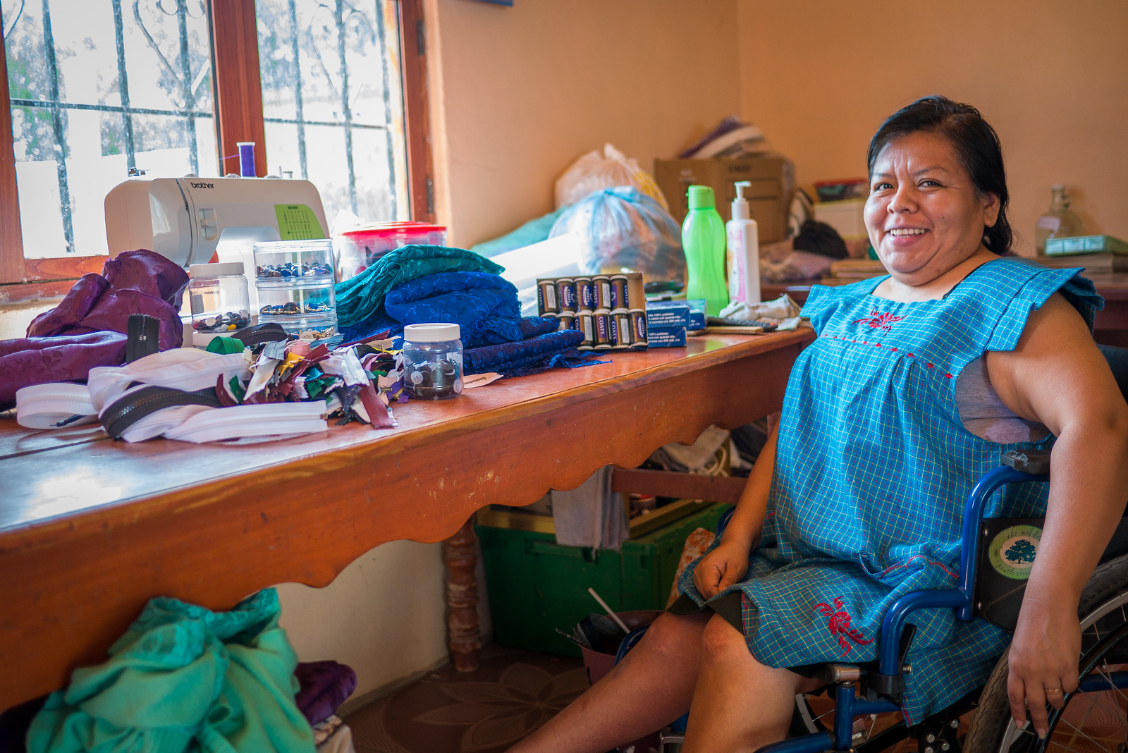 fairtrade seamstress in oaxaca