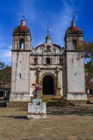 Church in San Miguel del Valle, Oaxaca Valley, Mexico.
