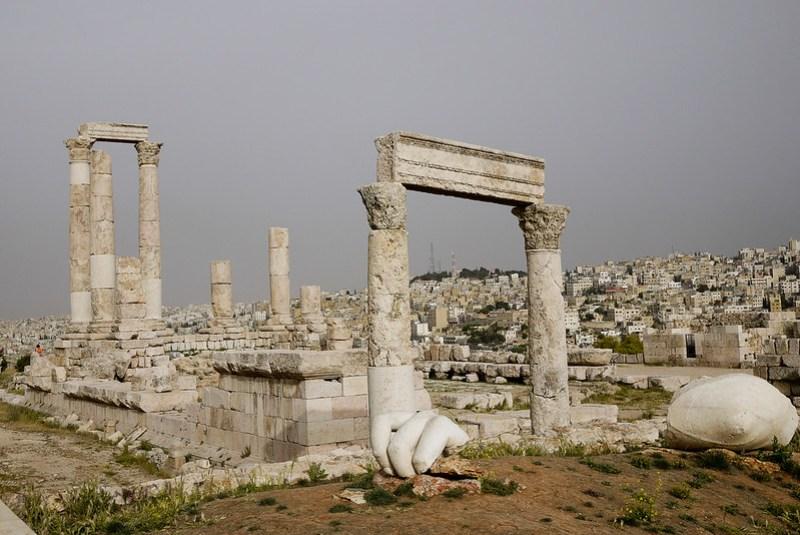 Hercules Statue Fragments, Amman Jordan