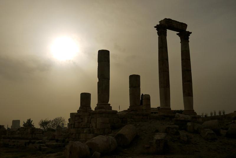 Citadel columns on the skyline