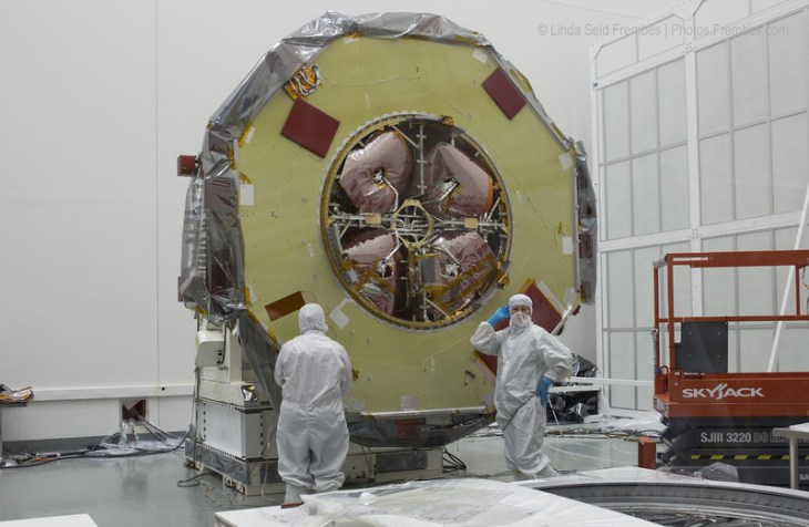 MMS clean room where the techs will strike a pose for your photos!