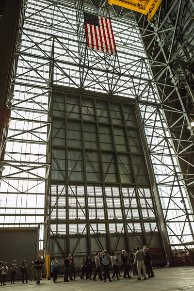 The group entering the VAB.