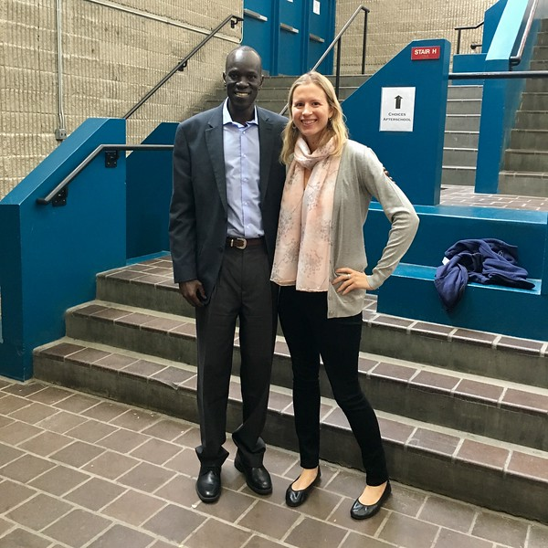 Salva Dut and Brianne Miers at Umana Academy in East Boston