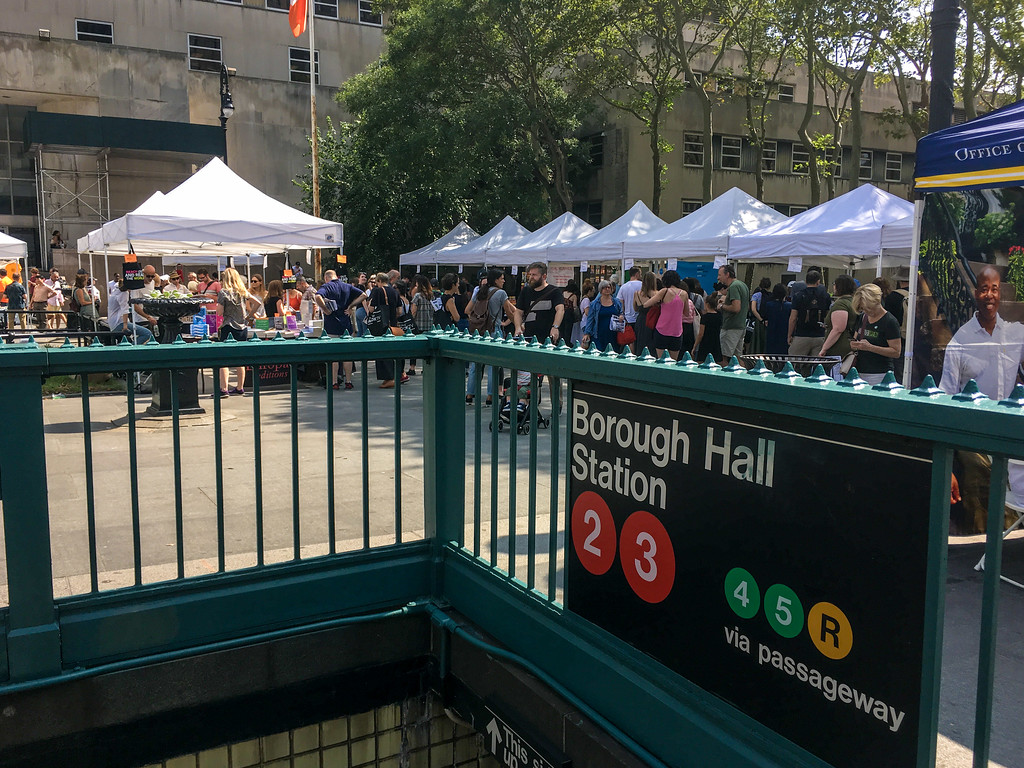 arriving early at the brooklyn book festival will save you from literary crowds