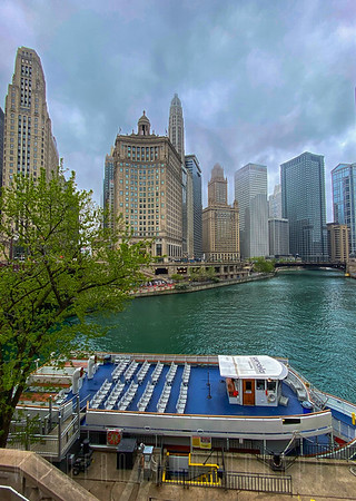 Boat On Chicago River
