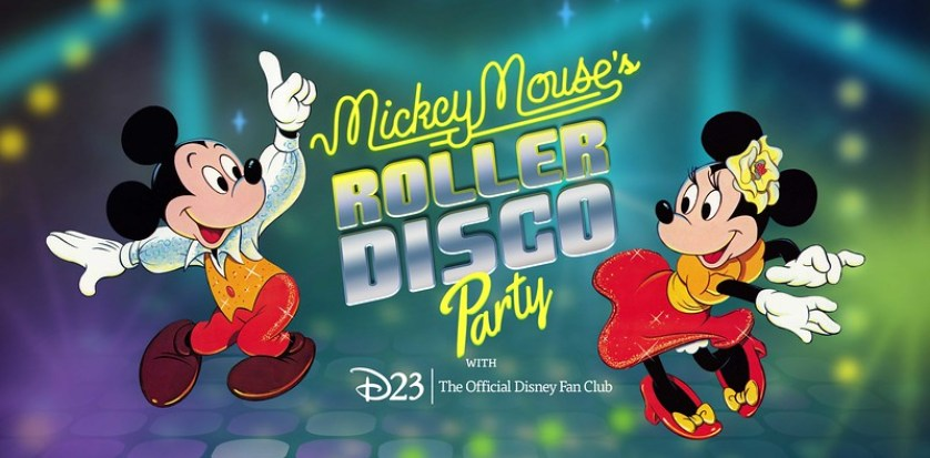 D23 mickey mouses roller disco party 2019