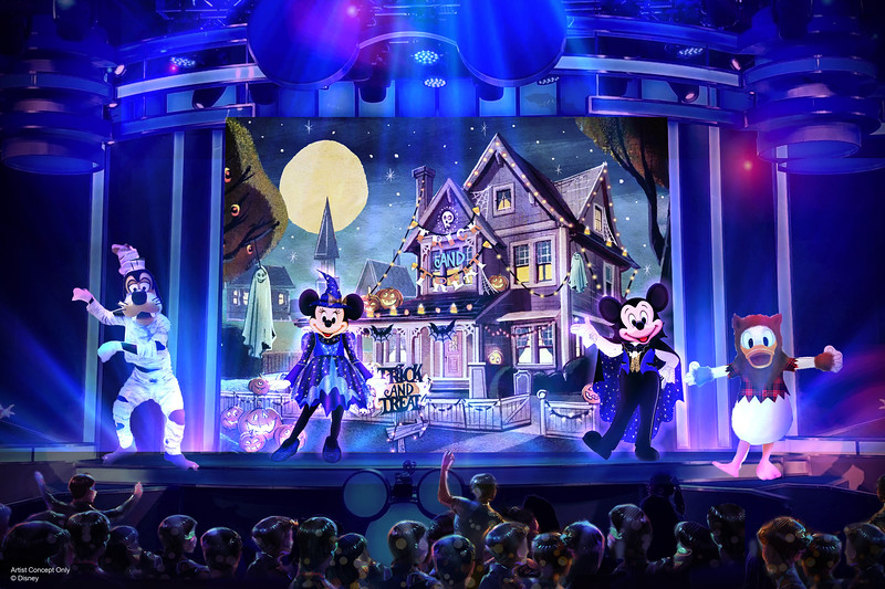 """Mickey's Trick and Treat"" Show during Oogie Boogie Bash at Disney California Adventure Park"