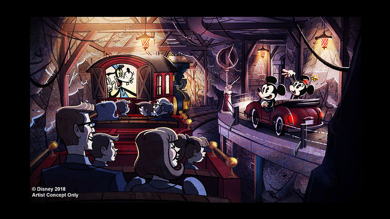 Another look at upcoming 'Mickey & Minnie's Runaway Railway' attraction