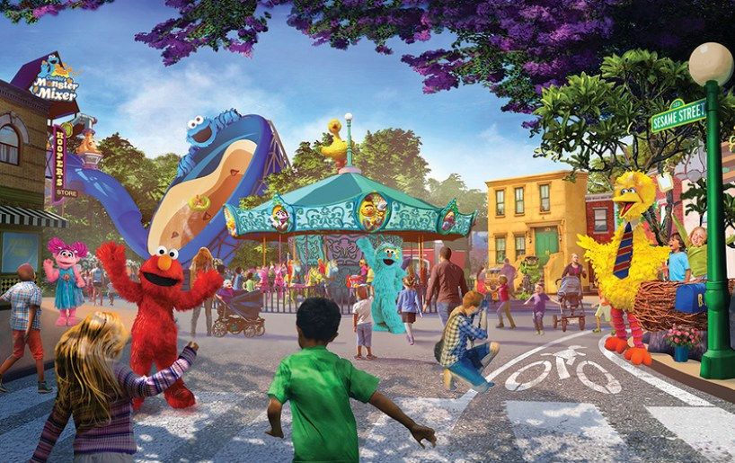 Sesame Place San Diego Neighborhood Rendering