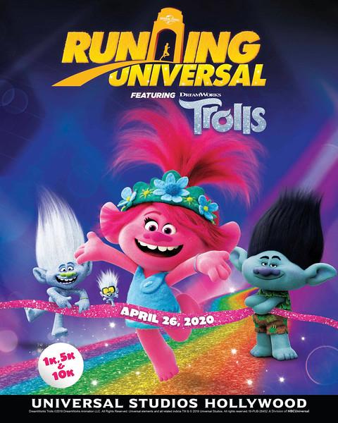 Running Universal - Trolls Run (logo)