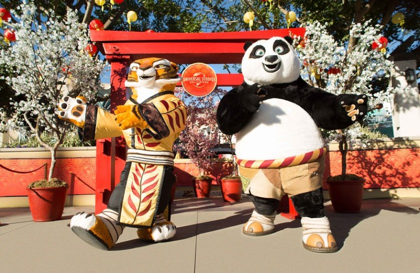 Tigress and Po-Lunar New Year 2019 at USH