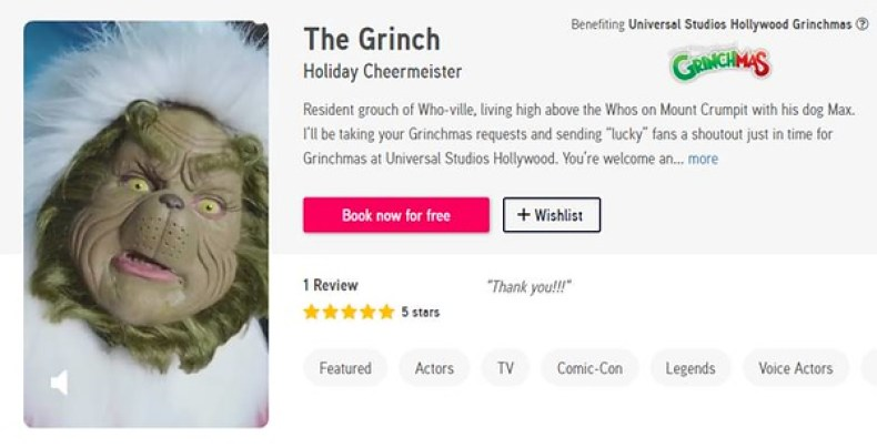 grinch cameo offer