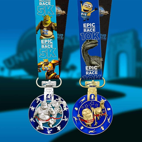 Running Universal's inaugural Epic Character Race 5K and 10K medals