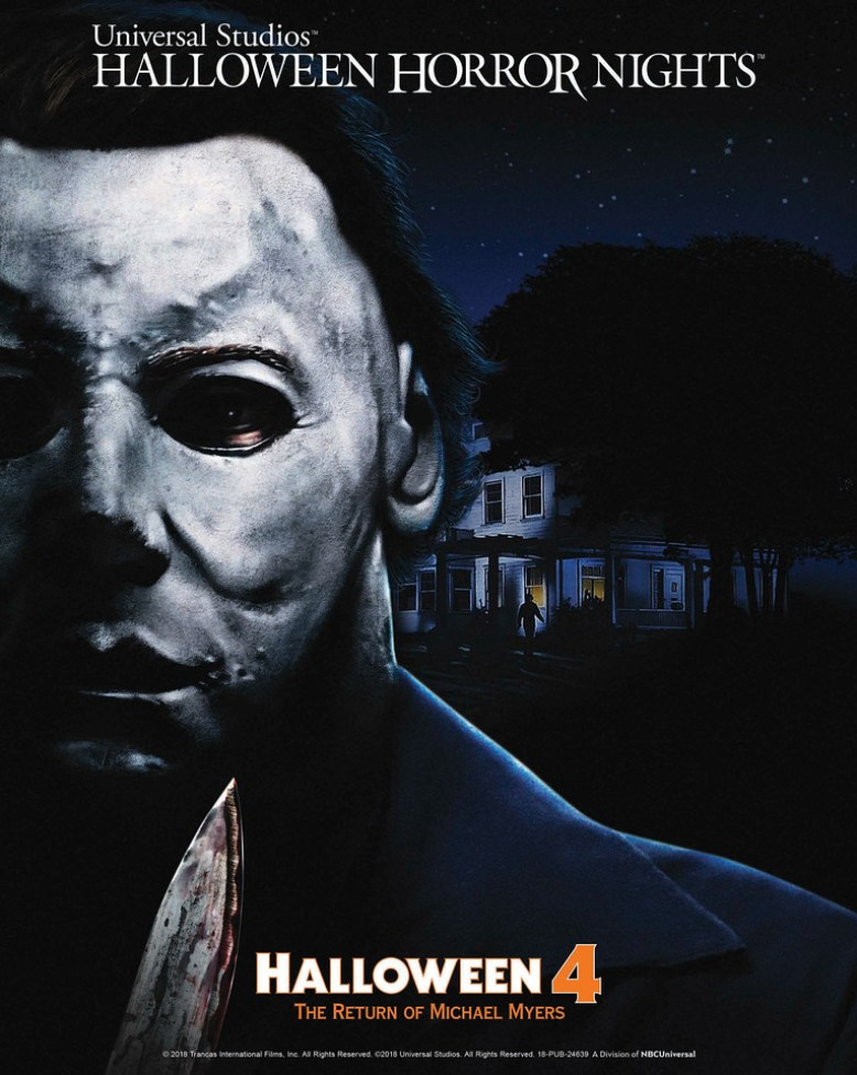"Universal Studios' Halloween Horror Nights Unmasks Haddonfield's Infamous Slasher in All-New Terrifying Mazes Based on ""Halloween 4: The Return of Michael Myers,"" Beginning September 14"