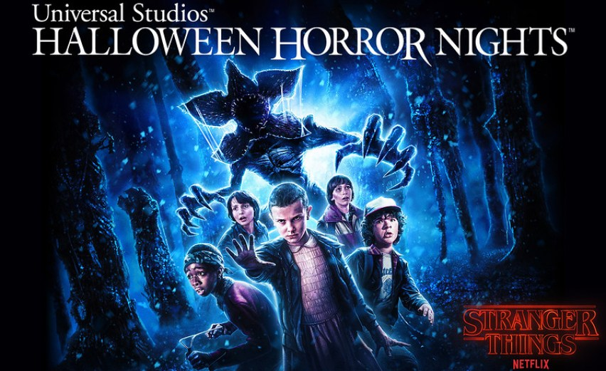 """Universal Studios Hollywood, Universal Orlando Resort and Universal Studios Singapore debut exclusive first look image of new """"Stranger Things"""" Halloween Horror Nights maze designed exclusively by Kyle Lambert, the official illustrator of the mega-hit Netflix original series"""