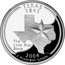 US quarter featuring the state of Texas