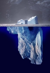 another iceberg - emphasizing what is hidden