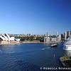 Opera House, Circular Quay, and a cruise chip.