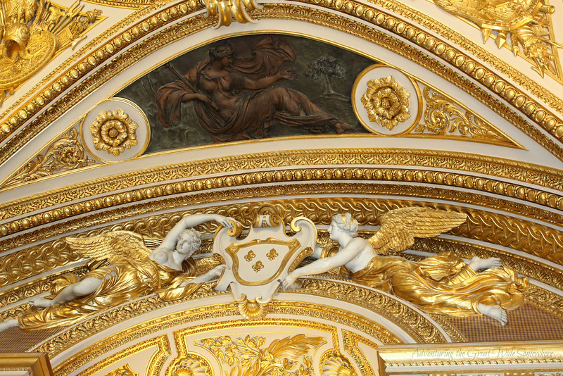More pretty gold ceiling detailing at the Louvre