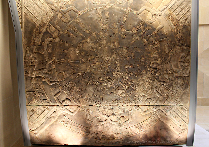 The Zodiac of Dendera hangs overhead at the Louvre Museum