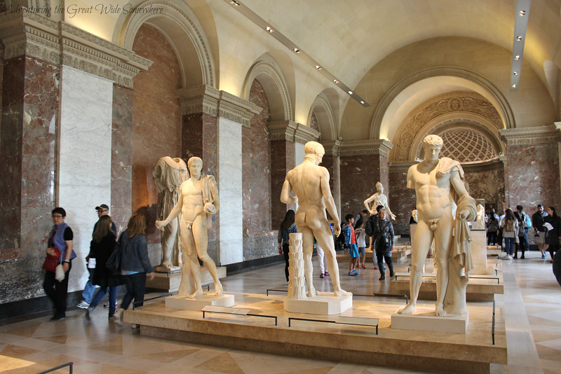 More statues in the Greek, Roman and Etruscan section of the Louvre Museum