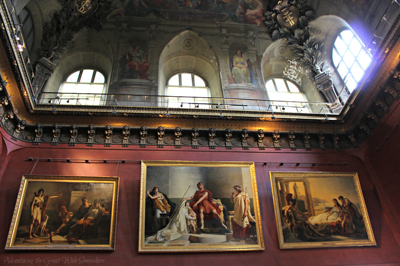 Three large paintings in the Louvre's Italian Painters section