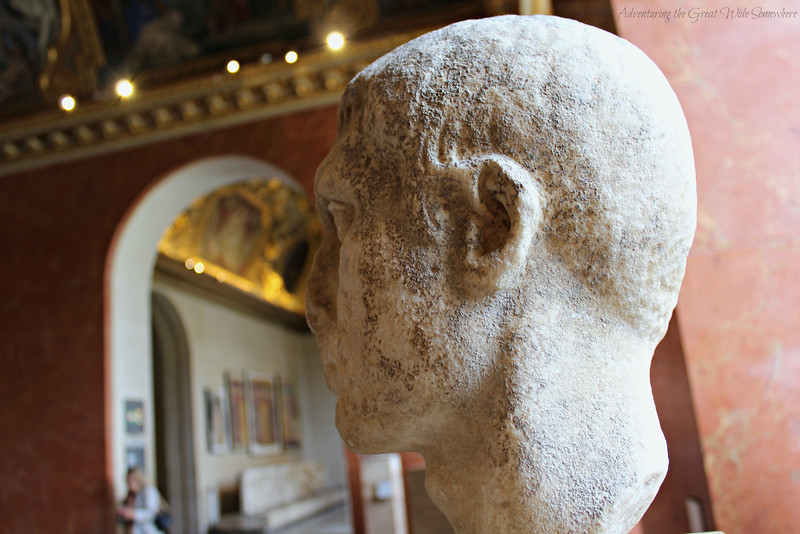Profile view of a bust that looks like Lord Voldemort