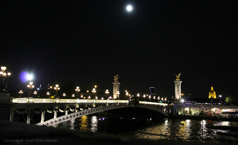 Pont Alexandre III on a clear spring night in Paris