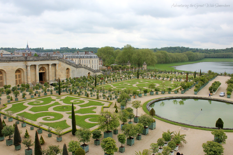 Beautiful gardens at the Chateau de Versailles.