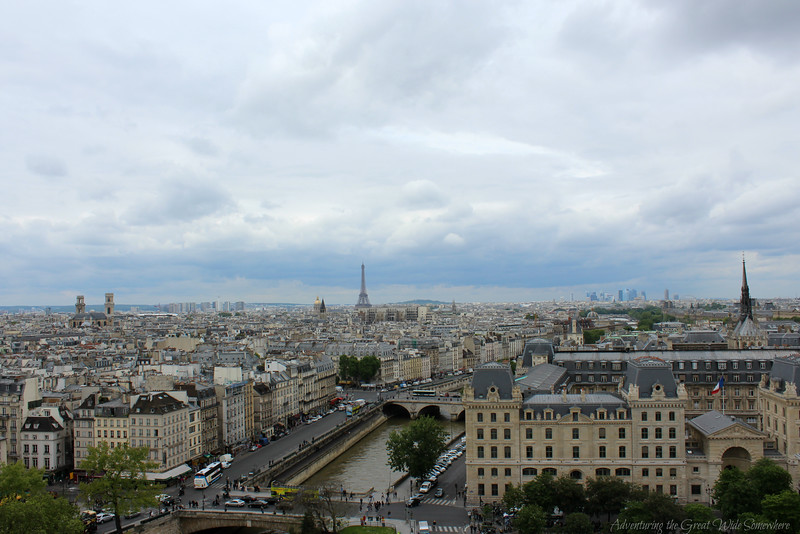 Thanks to the Paris Museum Pass, we got to climb the towers of Notre Dame and enjoy this gorgeous view over Paris at no additional charge!