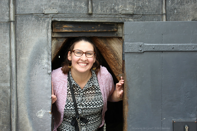 Coming out of the bell tower at Notre Dame, which was included in our Paris Museum Pass, with a huge grin.