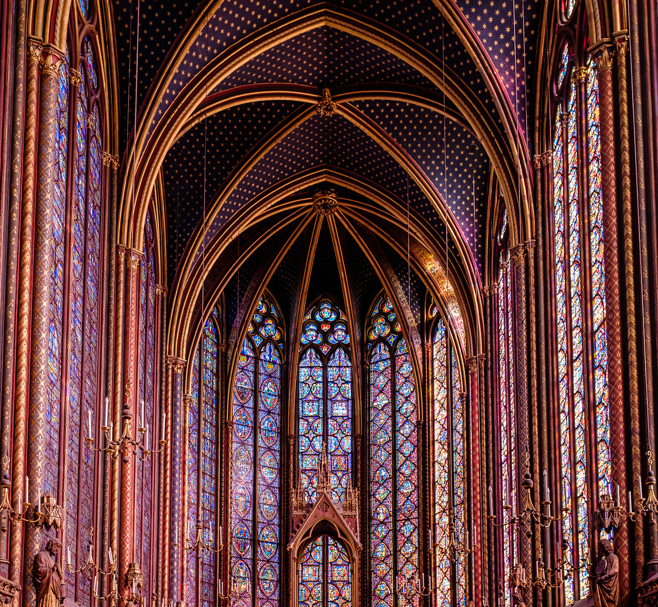 upper chapel of the Sainte-Chapelle Paris