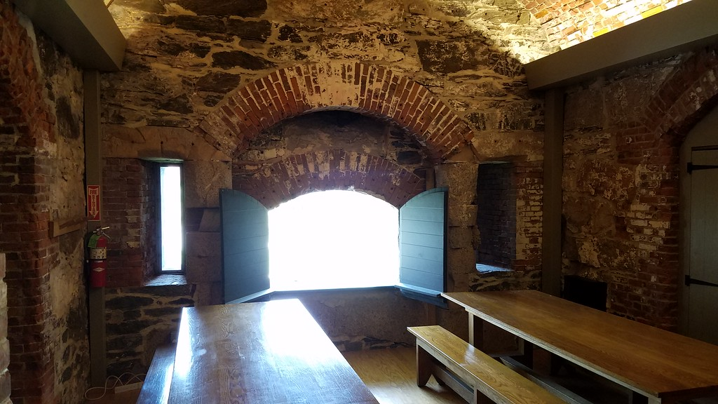 Reinforced walls of the halls in Fort Adams