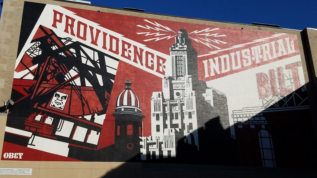 Providence Rhode Island Industry street art by Obey
