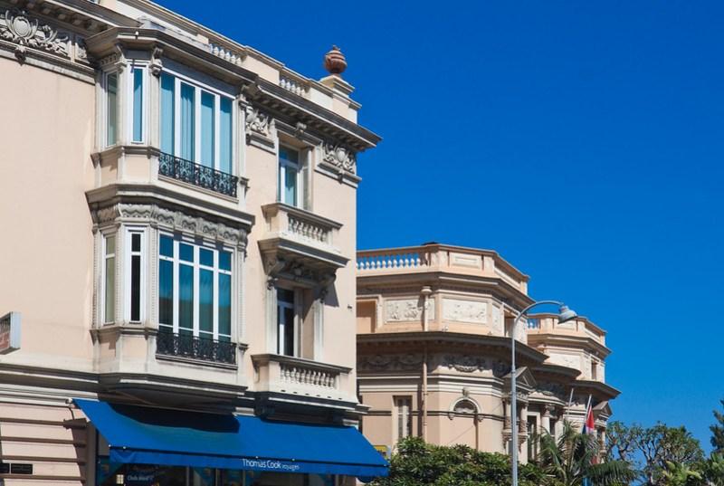 Luxurious buildings in Monte Carlo